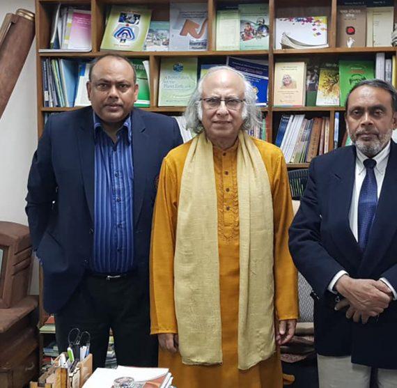 The BAH President Dr Younus, Prof QK Ahmad, and Cariac Surgeon Dr Zakaria